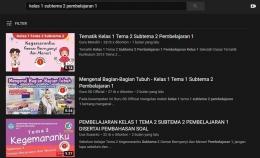 Materi pembelajaran pada YouTube/dokpri