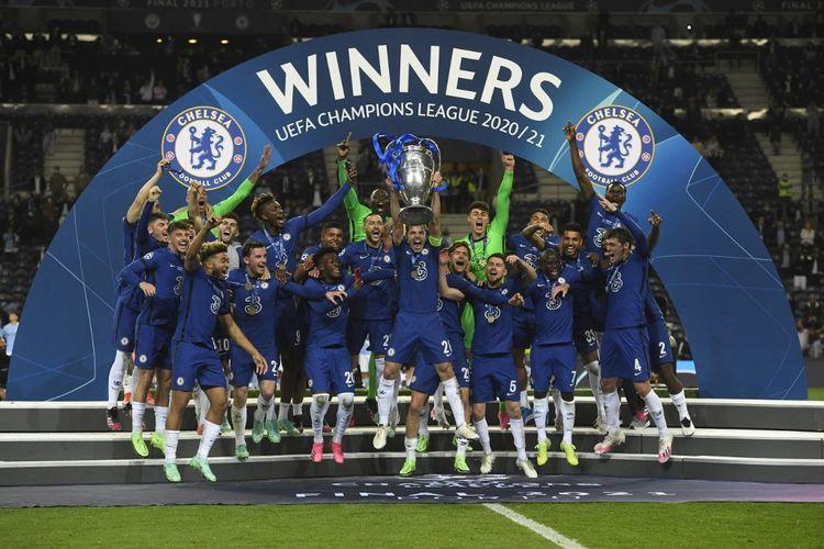 Chelsea juara Liga Champions musim 2020/21. Foto: AFP/Pierre-Philipe Marcou via Kompas.com