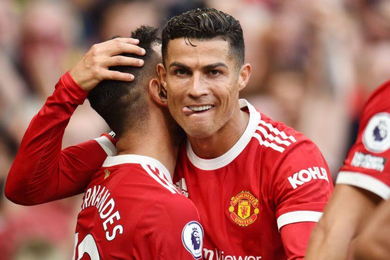 Ronaldo usai mencetak gol untuk MU, sumber gambar : football-italia.net