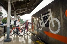 Kereta bagasi khusus sepeda. (Sumber: Dokumentasi Kereta Api Indonesia)