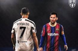 Ronaldo dan Messi, sumber gambar; . (TWITTER.COM/BRFOOTBALL) dalam bolasport.com