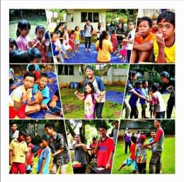 Saat penulis dan teman-teman mengadakan festival permainan tradisional untuk anak-anak SD (Dokpri)