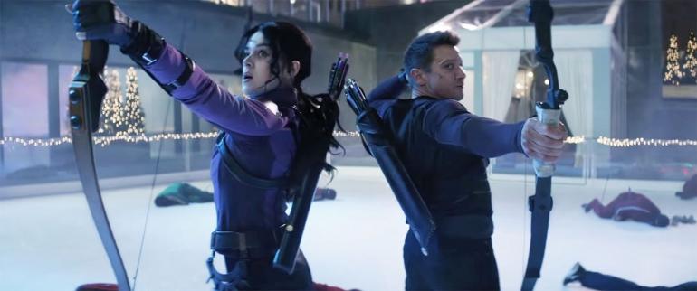 Kate Bishop dan Clint Barton   Dokumentasi Marvel Studio