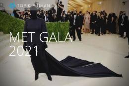 Kim Karsadhian di Met Gala 2021. (Foto: Getty Images/Mike Coppola via kompas.com)