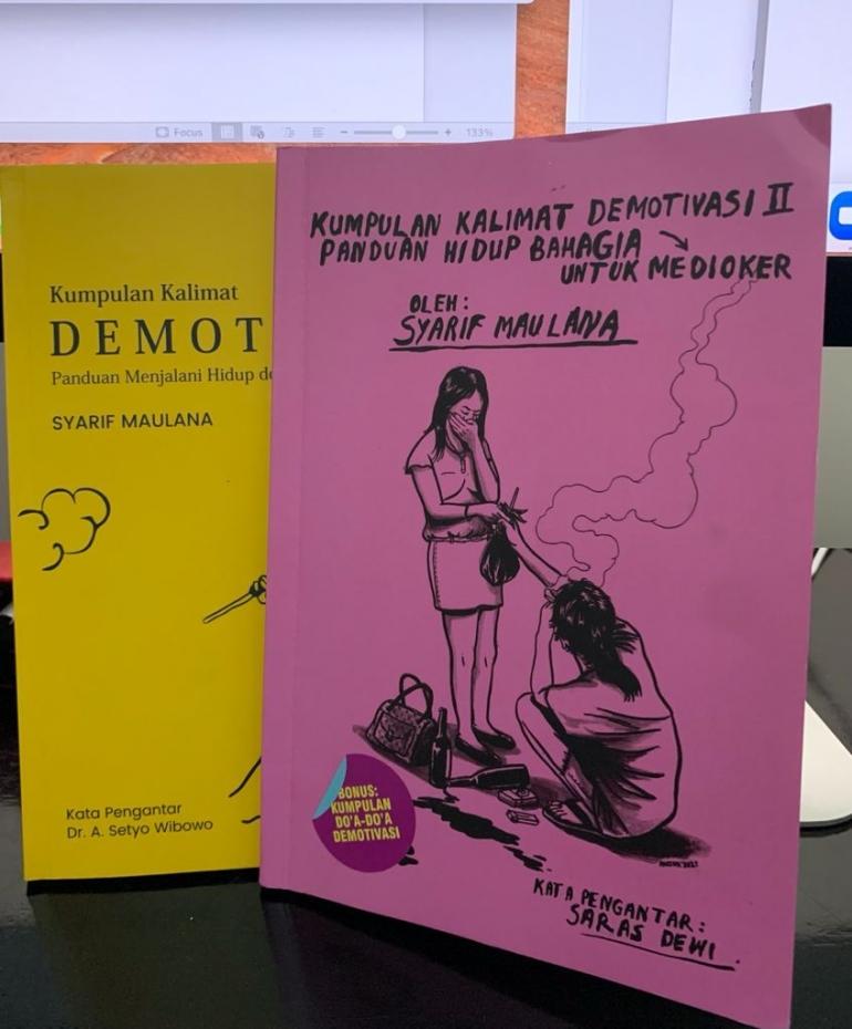 Buku Kumpulan Kalimat Demotivasi II karya Syarif Maulana | Dokumentasi pribadi