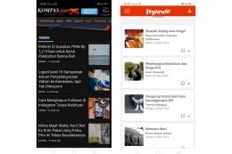 Tampilan media sosial tumblr pada kategori populer, dan banner iklan yang memajang banyak judul dalam satu boks. Sumber: screenshot