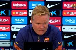 Ronald Koeman, pelatih Barcelona. Foto: Tangkapan layar via Kompas.com