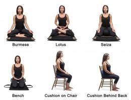 Berbagai postur meditasi. Diadaptasi dari: shopify.com