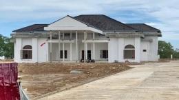 Rumah dinas Bupati Penajam Paser Utara sedang dalam proses pembangunan.   Tribunkaltim.co