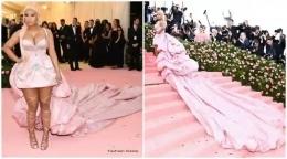 Nicki Minaj di Met Gala 2019. Met Gala 2020 tidak diadakan karena pandemi. Foto: fashionsizzle.com