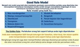 Image: Good Role Model & Koneksitas Team yang Mendalam (File by Merza Gamal)