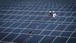 Ilustrasi pembangkit listrik tenaga surya. Sumber foto: CNNIndonesia.