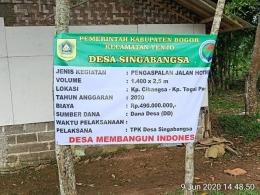 Ilustrasi Sosialisasi Anggaran Pengaspalan Jalan Desa. Sumber Rakyat News