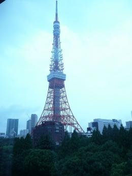 Bangunan  Tokyo Tower diambil dari jendela kamar (dok pribadi)