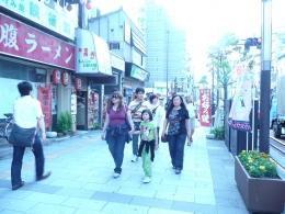 berjalan didaerah Osaka dok pribadi)