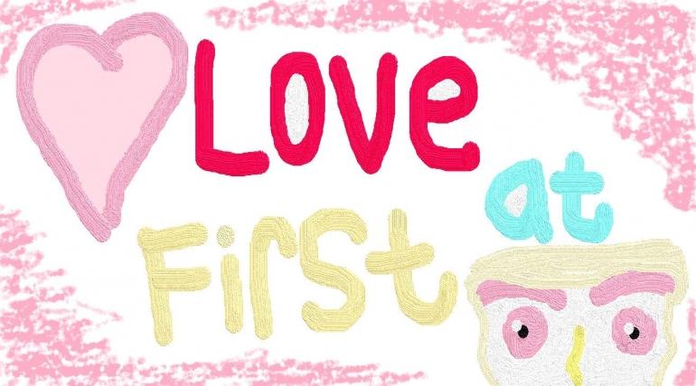 Cinta pandangan pertamasumber: https://web.facebook.com/photo/?fbid=4672558492775447&set=a.260098750688132