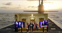Gambar 1. Pengumuman Pakta Pertahanan AUKUS Oleh Presiden AS Joe Biden, PM UK Boris Johnson dan PM Aus Scott Morisson