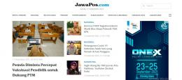 Laman Utama Portal Berita JawaPos. Sumber: jawapos.com