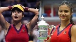 Emma Raducanu baru saja juara tenis US Open 2021 tak ketinggalan meramaikan MET Gala 2021: AFP/TIMOTHY A CLARY.