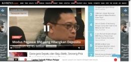 Elemen video dalam laman berita. Sumber:Kompas.com