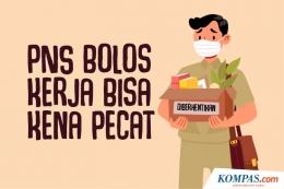 Aturan Pemecatan PNS Bolos. Sumber KOMPAS.com/Akbar Bhayu Tamtomo