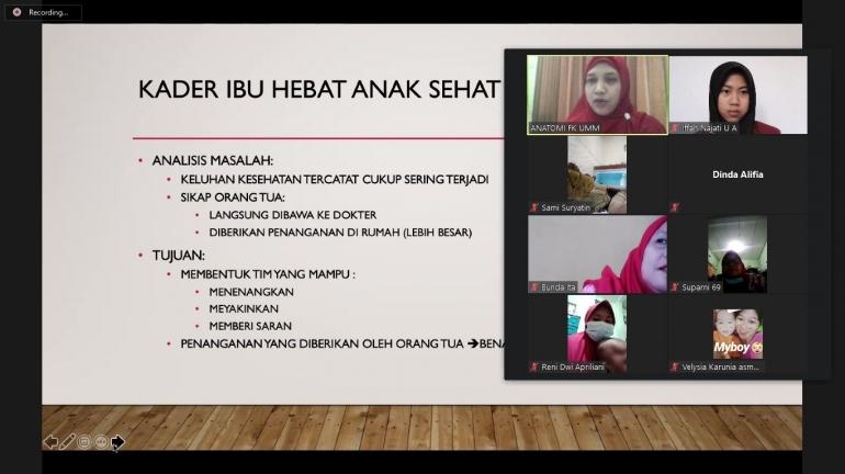 Workshop Sosialisasi Penanganan Awal Keluhan Kesehatan oleh dr. Anung Putri Illahika, M. Biomed (Dokpri)