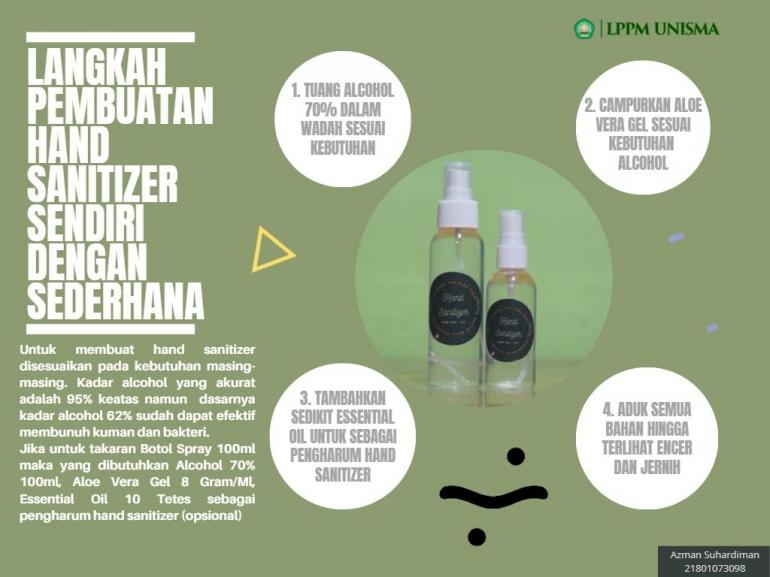 Leaflet Pembuatan Hand Sanitizer/dokpri