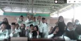 Siswa SMK Maritim Nusantara yang mengikuti KLS/Dokpri