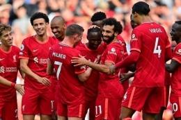 Liverpool meraih kemenangan 3-0 kontra Cyrstal Palace. Foto: AFP/Paul Ellis via Kompas.com