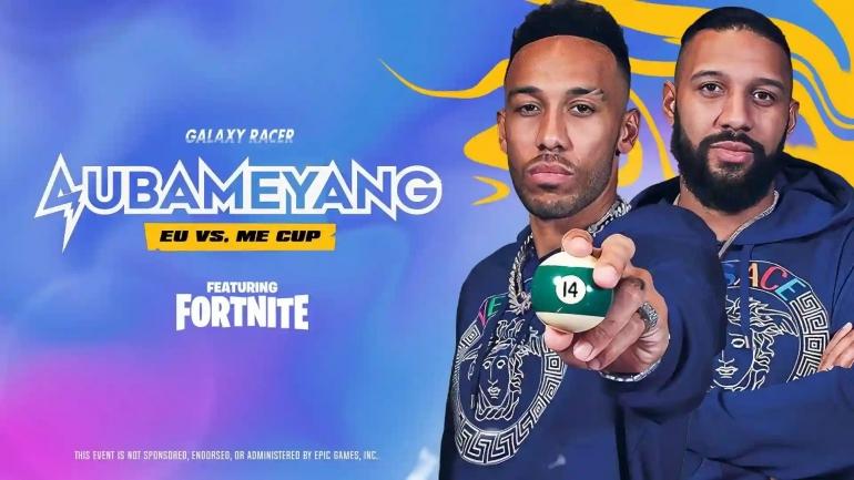 Poster turnamen Fortnite Galaxy Racer Aubameyang Cup. Foto: akun Twitter @GalaxyRacerDxb