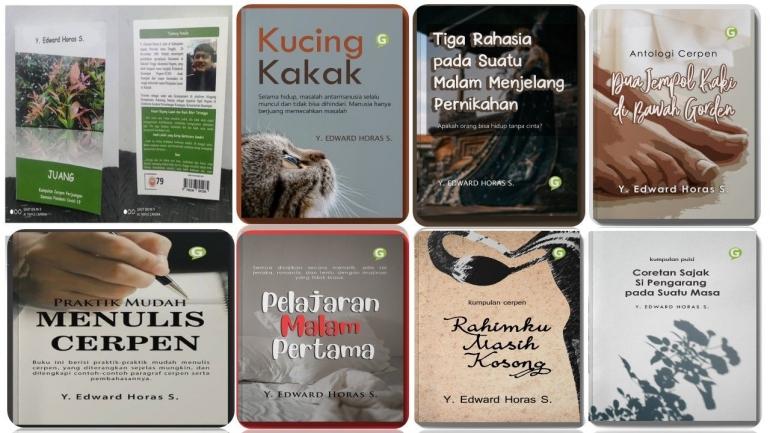 Delapan buku saya yang lahir berkat tulisan di Kompasiana, sumber: dokumentasi pribadi