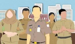 PNS mendapat upah dari akumulasi pajak rakyat(Sumber: BKPSDM Kota Cirebon)