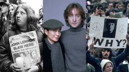 Foto John & Yoko dan peringatan setelah kematiannya. Sumber: www.smoothradio.com/ Getty