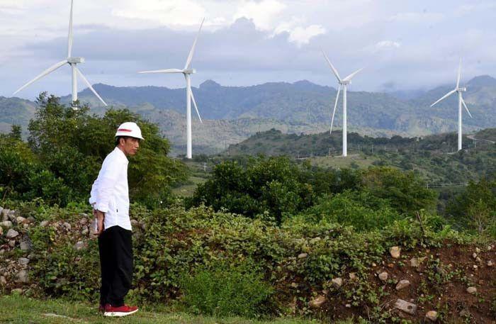 Presiden Jokowi dan Turbin Angin (Sumber: IESR)