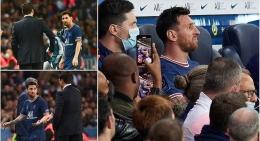 Sejumlah ekpresi Messi saat dan usai meninggalkan lapangan pertandingan: Dailymail.co.uk