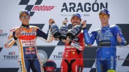 Francesco Bagnaia meraih kemenangan pertama di MotoGP di seri Aragon, Spanyol, pekan lalu: Dorna Sports