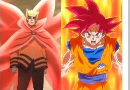 Foto ilustrasi gaya bertarun Naruto mirip goku | sumber: (gambar Naruto: screenshot dari video episode 216 crunchyroll.com dan Goku: pdvg.it)