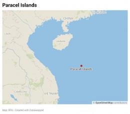 Peta Kepulauan Paracel