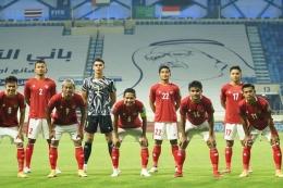 Pemain Timnas Indonesia saat berlaga di Kualifikasi Piala Dunia 2022 Zona Asia. (PSSI via kompas.com)