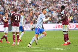 Ronaldo usai membobol gawang West Ham United: manchestereveningnews.com