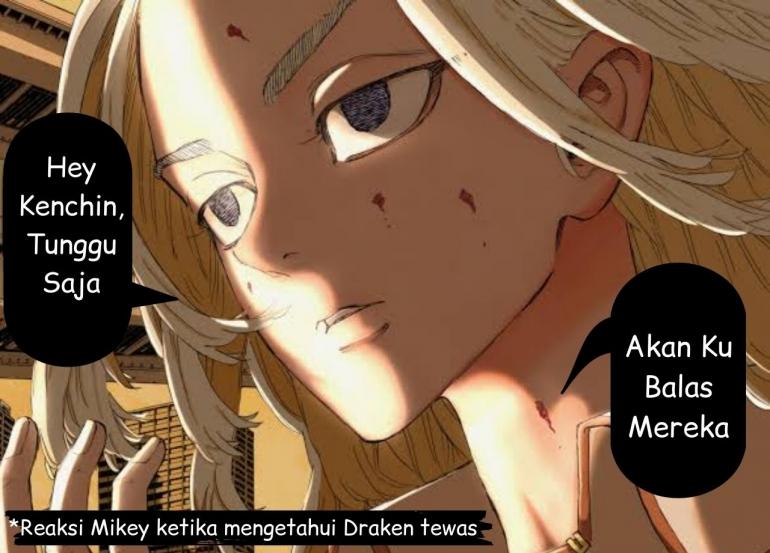 Illustrasi Fanart ketika Mikey mengetahui Kematian Draken. (Sumber: DevianArt, Edit By Ilham Maulana)