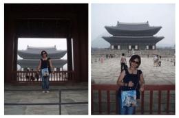 Dokumentasi pribadi/Aku dengan latar belakang tahta singgasana bangunan Geungjeongjeon Hall