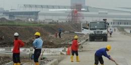 Foto pembangunan kawasan industri. Sumber foto: Arie Basuki/Merdeka.com