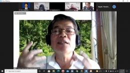 Pemaparan materi oleh Dr. Timbul H. Simanjuntak, Divisi Ristek Yayasan Bung Karno