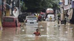 Banjir di Salah Satu Lokasi di Jakarta. Sumber: CNN Indonesia