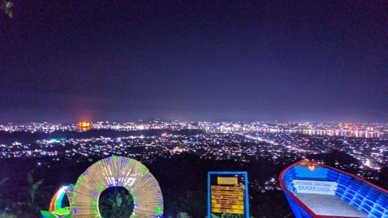 Sumber pribadi: Suasana Wisata Gunung Lonceng pada  malam Hari