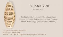 Gambar 4. Logo produk dan Thank you card/dokpri