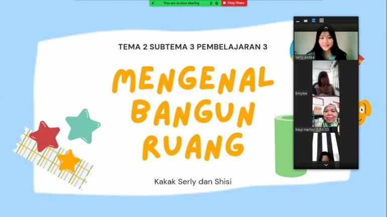 Pendampingan belajar siswa kelas 1 SDN Lambangsari 02 secara daring, Bekasi, Selasa (07/09/2021). (Foto: Kompasiana/Amalia Reshitasari)