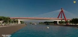 Desain jembatan Tano Ponggol (Foto : kompas.com)