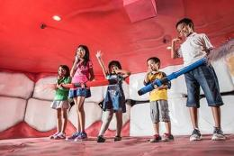 Anak Bermain Di Museum Tubuh Malang. Sumber Dokumentasi Jatim Park Group